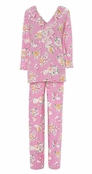 Lauren Ralph Lauren Day at the Races Pink Floral Pajama Set