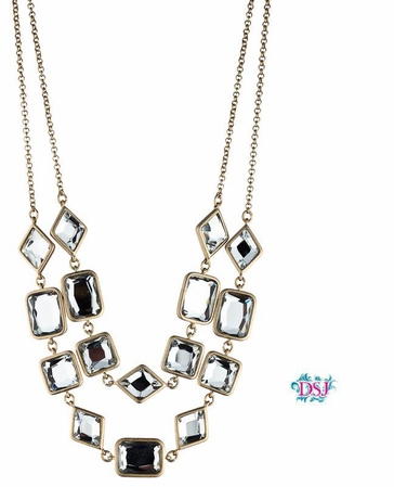 Layered Bezel Stone Necklace by Danielle Stevens