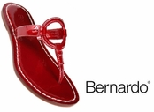 Red Matrix Dusty Patent  Leather Sandals by Bernardo