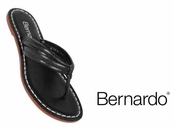Black Nappa Leather Miami Sandals by Bernardo