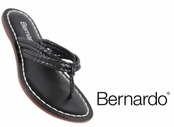 Black  Woven Asmara Leather Miami Sandals by Bernardo