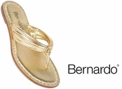Gold Nappa Leather Miami Sandals by Bernardo