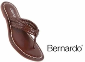 Luggage Woven Asmara Leather Miami Sandals by Bernardo