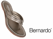 Pewter Nappa Leather Miami Sandals by Bernardo