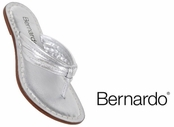 Silver Nappa Leather Miami Sandals by Bernardo