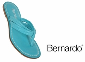 Turquoise Nappa Leather Miami Sandals by Bernardo