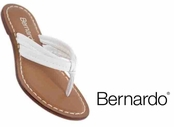 White Nappa Leather Miami Sandals by Bernardo