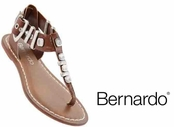 Tabac Milan Leather Studded Sandals by Bernardo