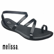 Black Paradise Sandals by Melissa Plastic Dreams