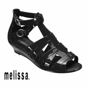 Black Melissa Liberty Sandals