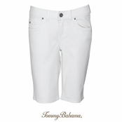 White Luna Denim Bermuda Shorts by Tommy Bahama