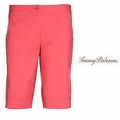 Melon Berry Jet Away Twill Bermuda Shorts by Tommy Bahama