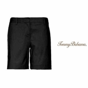 "Black Jet Away Twill 7"" Shorts by Tommy Bahama"