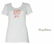 White Presley Beaded Coral Reef Tee Shirt by Tommy Bahama