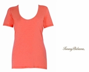 Burnt Coral Indio Tee Scoop Neck T Shirt by Tommy Bahama