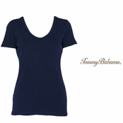 Coastline Navy Booker V-Neck Tee by Tommy Bahama