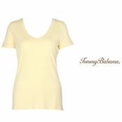Light Havana Booker V-Neck Tee by Tommy Bahama