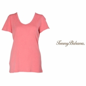 Strawberry Pink Booker V Neck Tee by Tommy Bahama