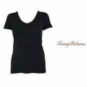 Black Booker V Neck Tee by Tommy Bahama