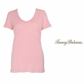 Dark Peony Booker V Neck Tee by Tommy Bahama