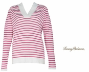Rose Bed Drumm Stripe Hoodie by Tommy Bahama
