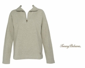 Shiitake Heather New Aruba Zip by Tommy Bahama