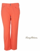 Burnt Coral Portolla Twill Cropped Pants by Tommy Bahama