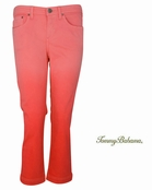 Red Tulip Grammercy Twill Dip Dye Crop Jeans by Tommy Bahama