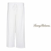 White Very Terry Straight Leg Crop Pants by Tommy Bahama