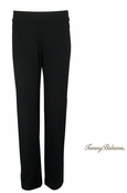 Black Tambour Wide Waist Pants by Tommy Bahama