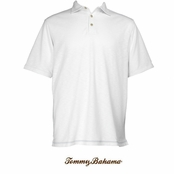 White Paradise Blend Polo Shirt by Tommy Bahama