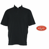 Black Relax Sergeant Bahama Polo Shirt by Tommy Bahama