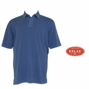 Dockside Blue Relax Sergeant Bahama Polo Shirt by Tommy Bahama