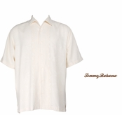 Coconut Bamboo Borders Silk Camp Shirt by Tommy Bahama