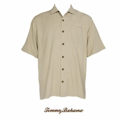 Shoreline Ginko-tini Silk Camp Shirt by Tommy Bahama