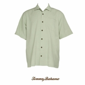 Sea Green Ginko-tini Silk Camp Shirt by Tommy Bahama