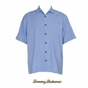 Surf Blue Ginko-tini Silk Camp Shirt by Tommy Bahama