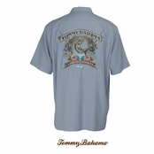 Canyon Sky Liquid Assets Silk Signature Camp Shirt by Tommy Bahama