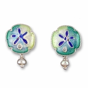 Enameled Sterling Silver Earrings