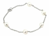 Freshwater Pearls by the Yard 6mm Sterling Silver Anklet