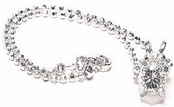 Crystal I Do Solitaire Ankle Bracelet