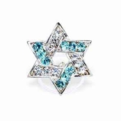 Crystal Star of David Illusion Band Toe Ring