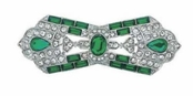 Great Gatsby Emerald Crystal Pin by Spring Street