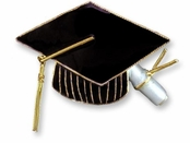 Graduation Vermeil Enameled Pin