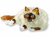 Birman Sterling Silver Enameled Pin