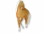 Palomino Sterling Silver Enameled Pin