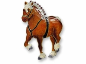 Clydesdale Sterling Silver Enameled Pin