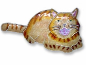 Kitty with Attitude Sterling Silver Enameled Pin
