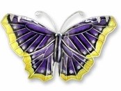 Mourning Cloak Sterling Silver Enameled Pin