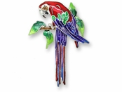 Greenwing Macaw Sterling Silver Enameled  Pin